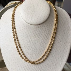 Jewelry - Vtg Gorgeous Double Strand Gold Statement Necklace